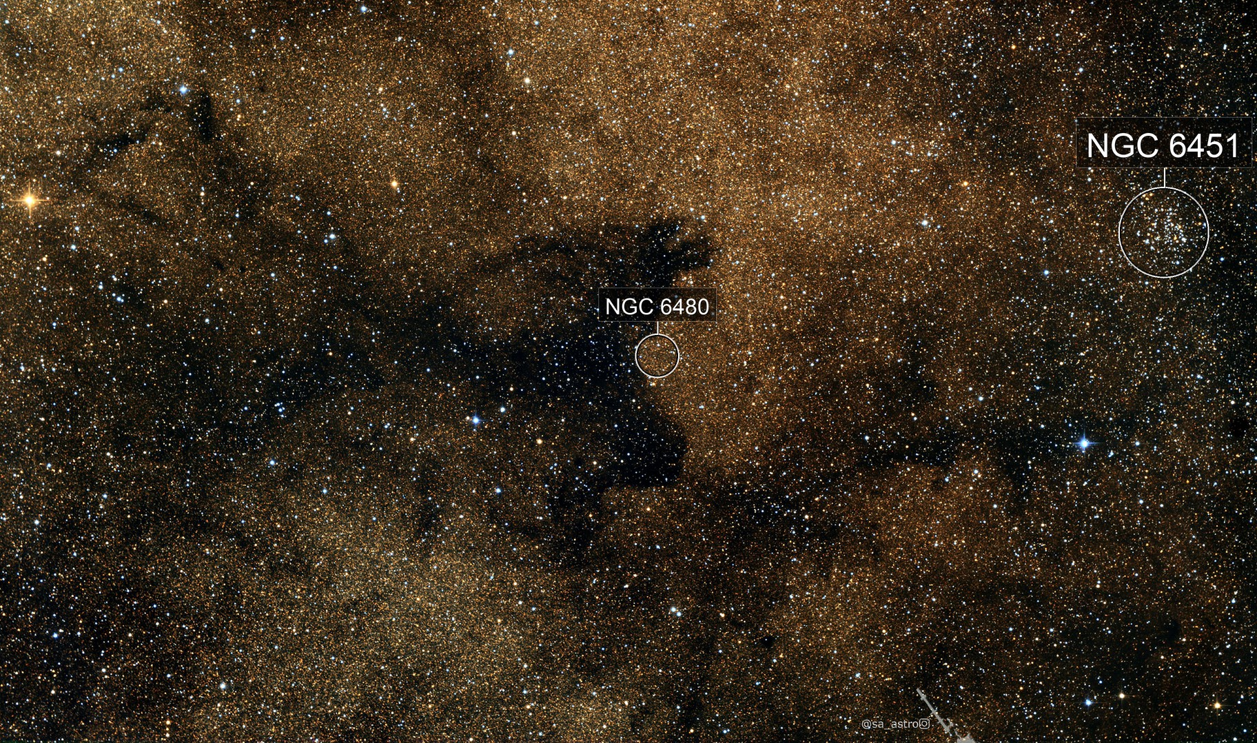 Space Pooch: in memory of Laika (LDN 1795 and NGC 6451)