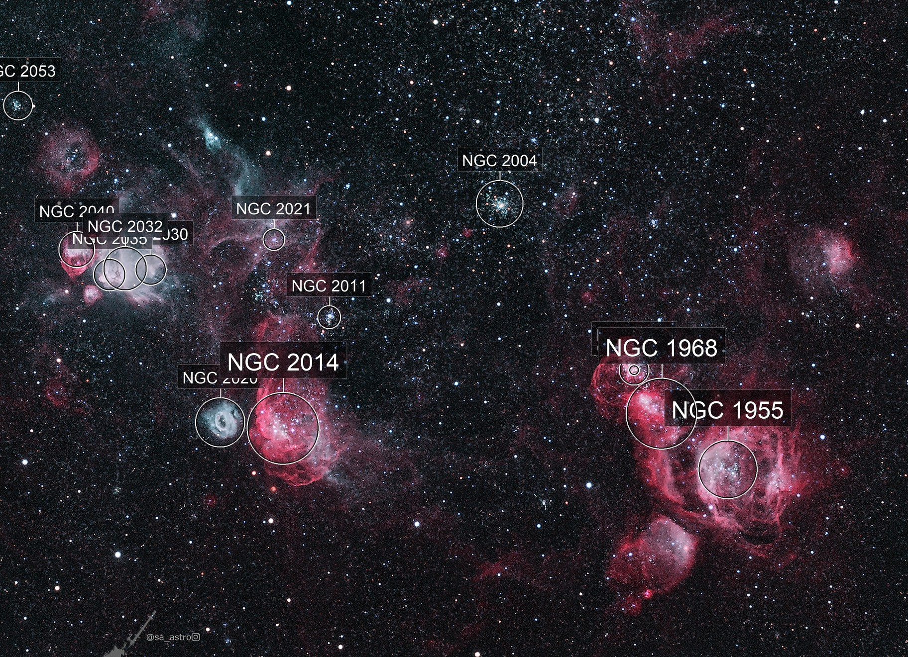 NGC 1955 et al (HOO)