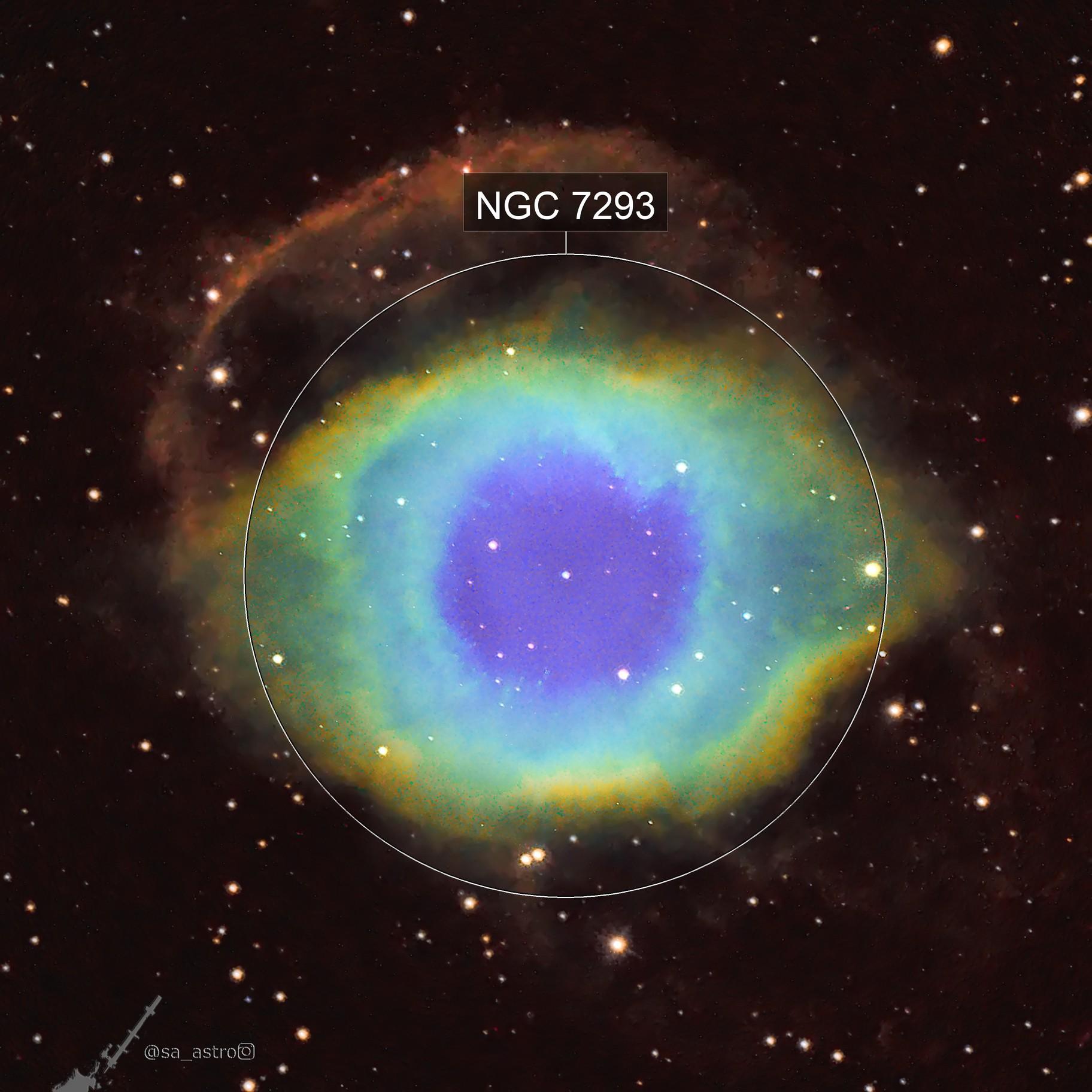 Sauron Celebrates Diversity (Helix Nebula, NGC 7293, SHO)