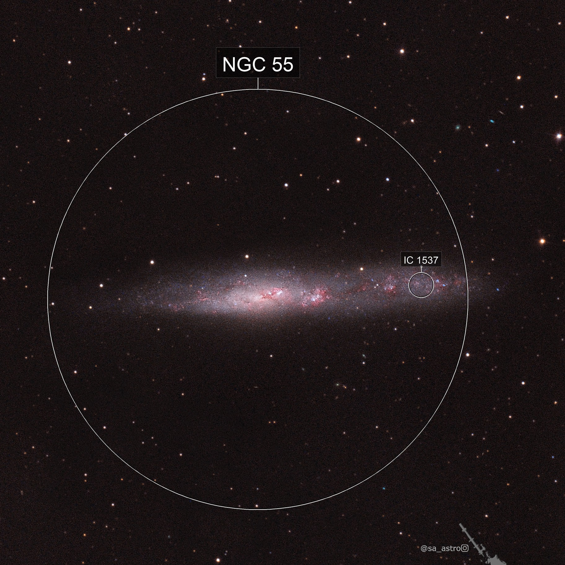 Bring your jukebox money (Whale Galaxy, NGC 55)