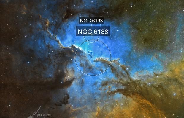 Galactic Scavengers (NGC 6188 and NGC 6193)