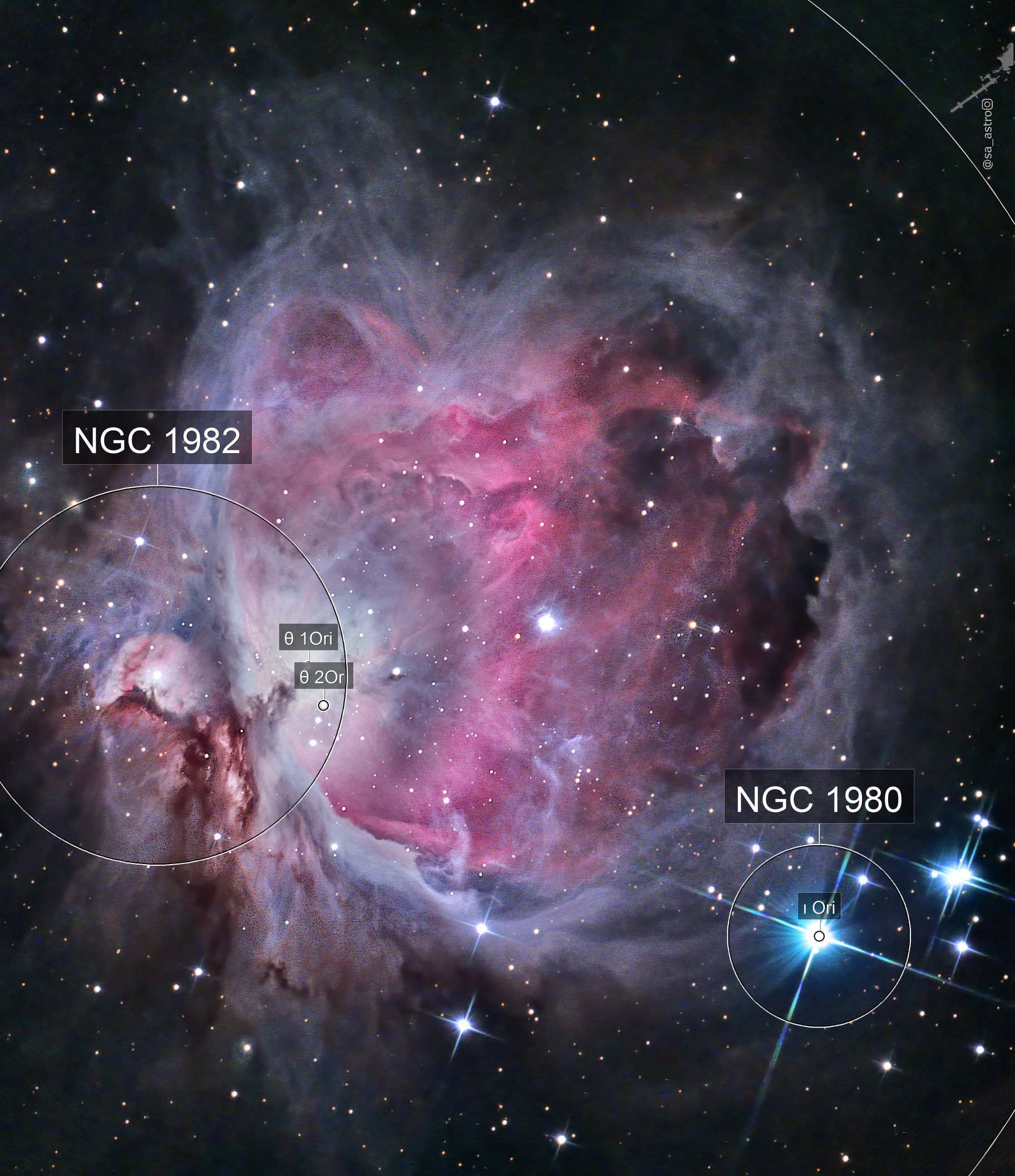 Great Orion Nebula (M42) in 1hr 40min under 97% moon.
