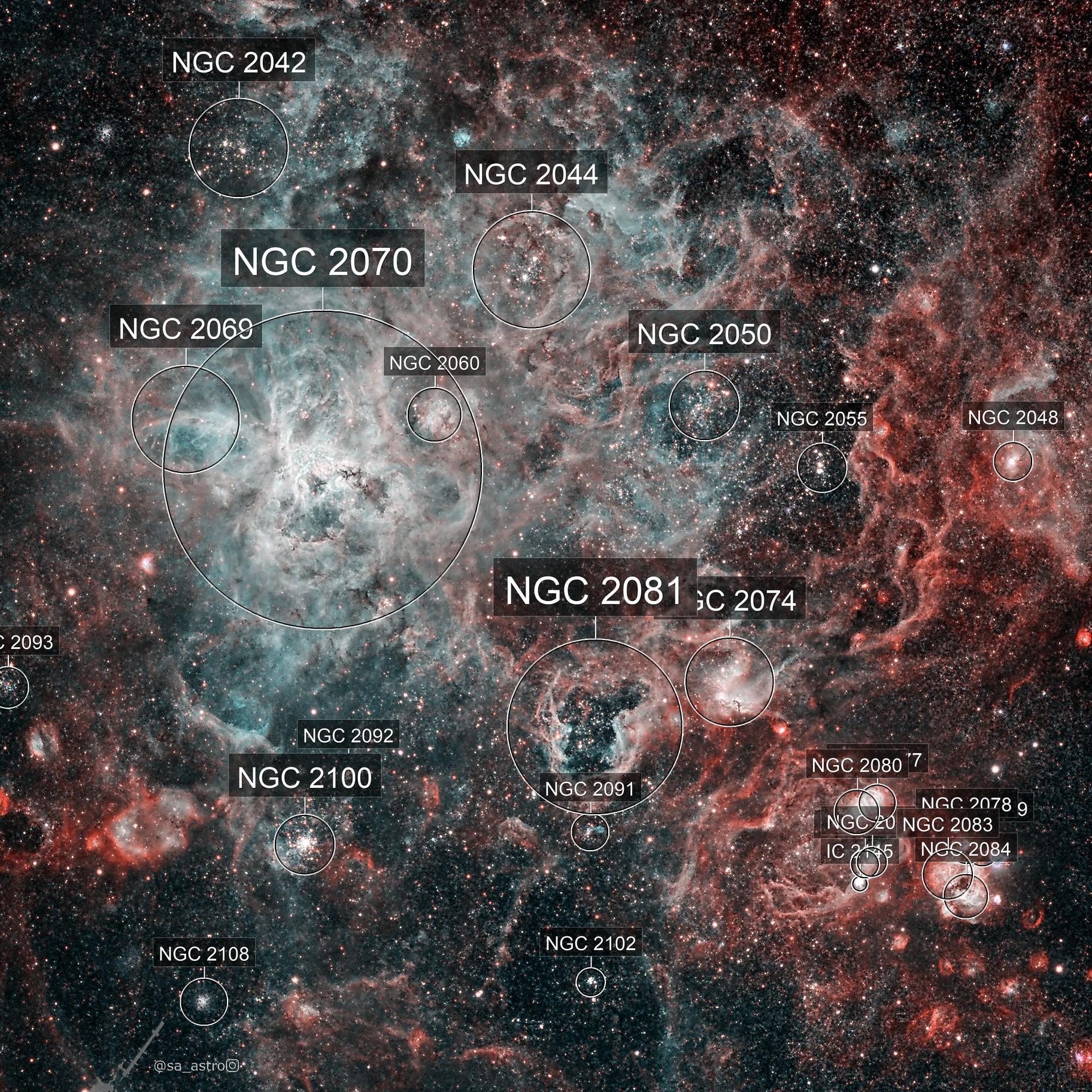 Gravity and Fusion (NGC 2070, Tarantula Nebula)