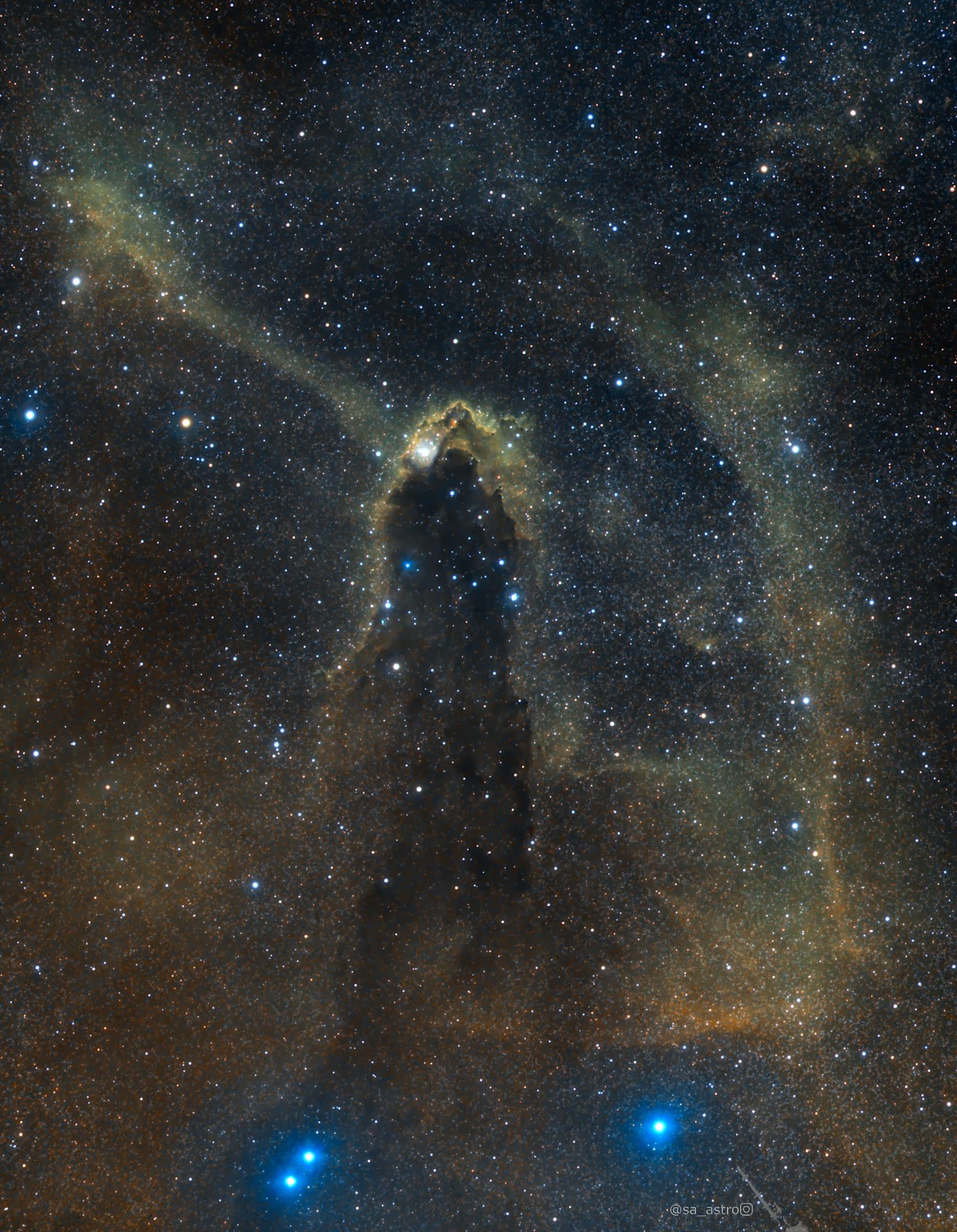 Dark Tower SFO-82, Hubble Palette