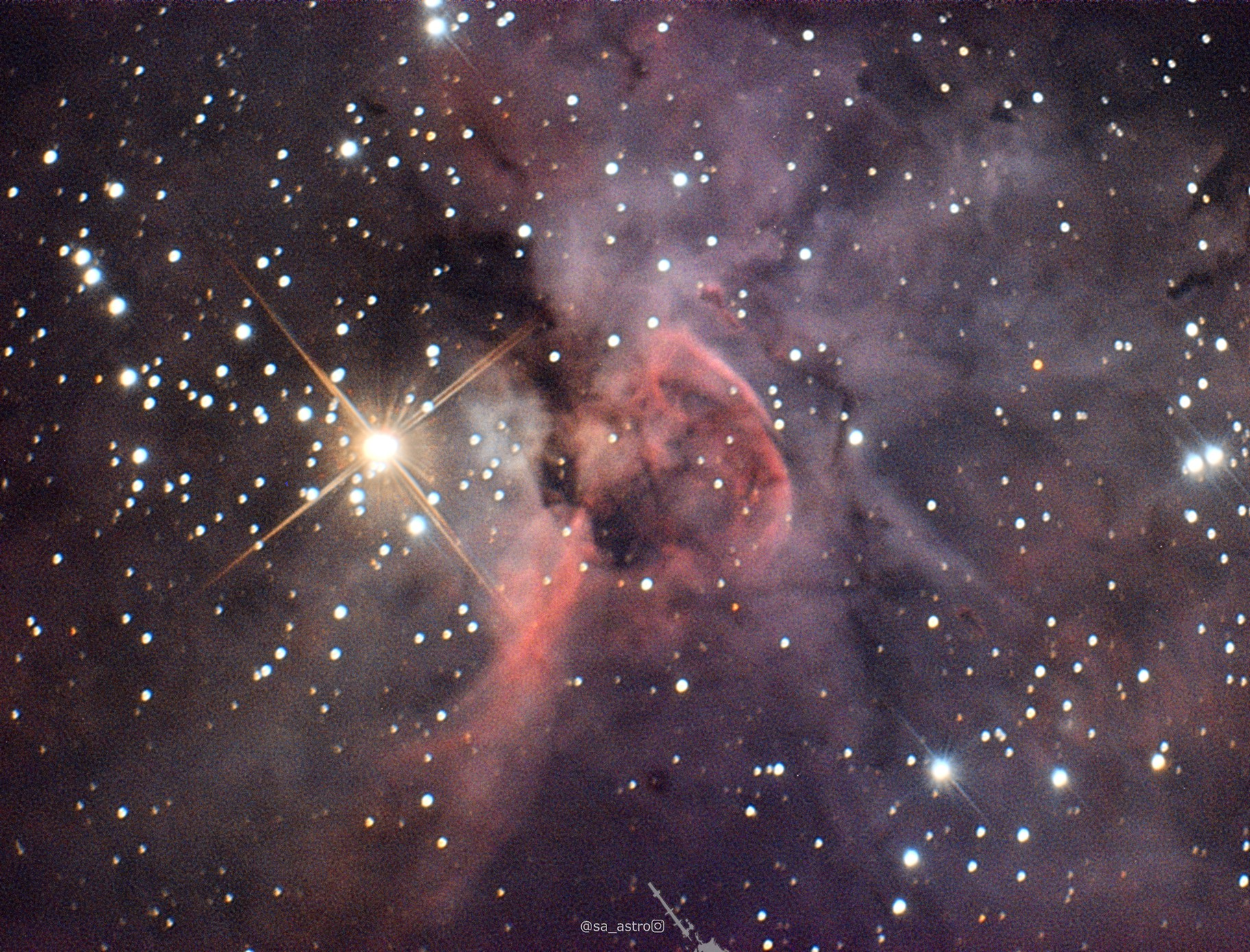 Keyhole Nebula (f/20)