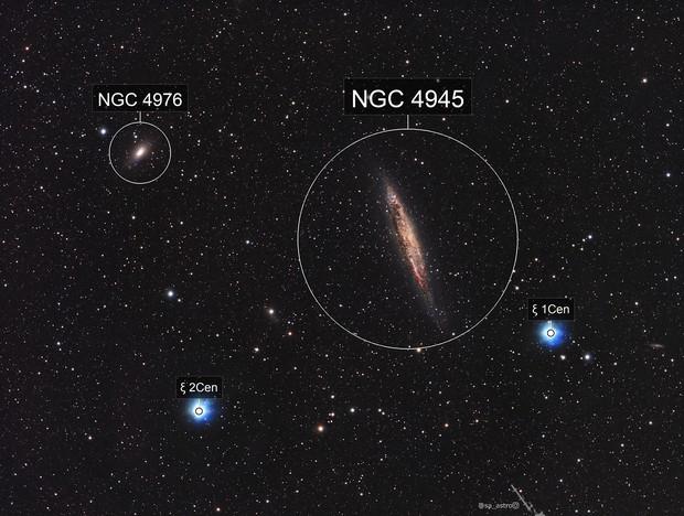 "NGC4945 ""Sweet Potato Galaxy"""