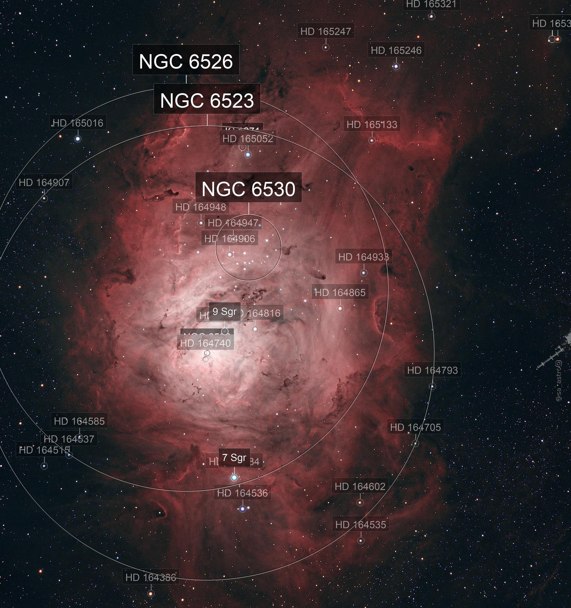 Lagoon Nebula M8 HOO