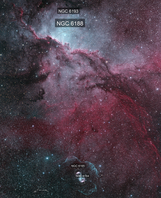 NGC6188 Fighting Dragons of Ara