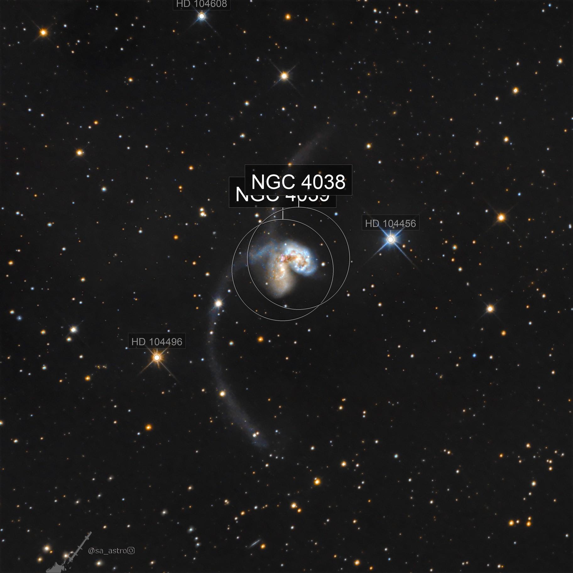 Antennae Galaxies / Ringtail Galaxy (NGC 4038 & 4039)