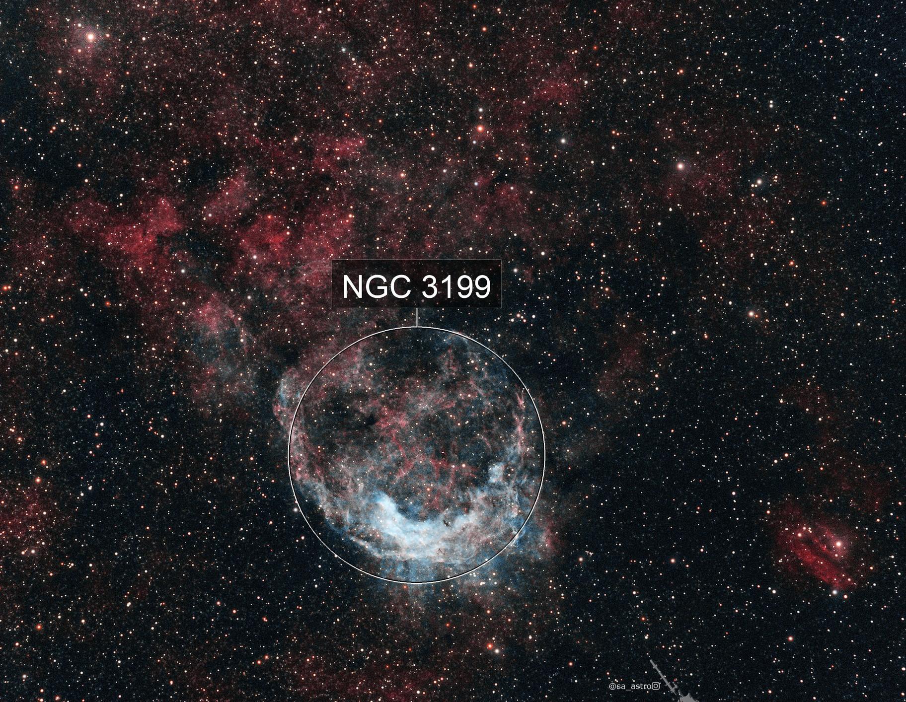 Galactic Banana NGC 3199 (HOO)