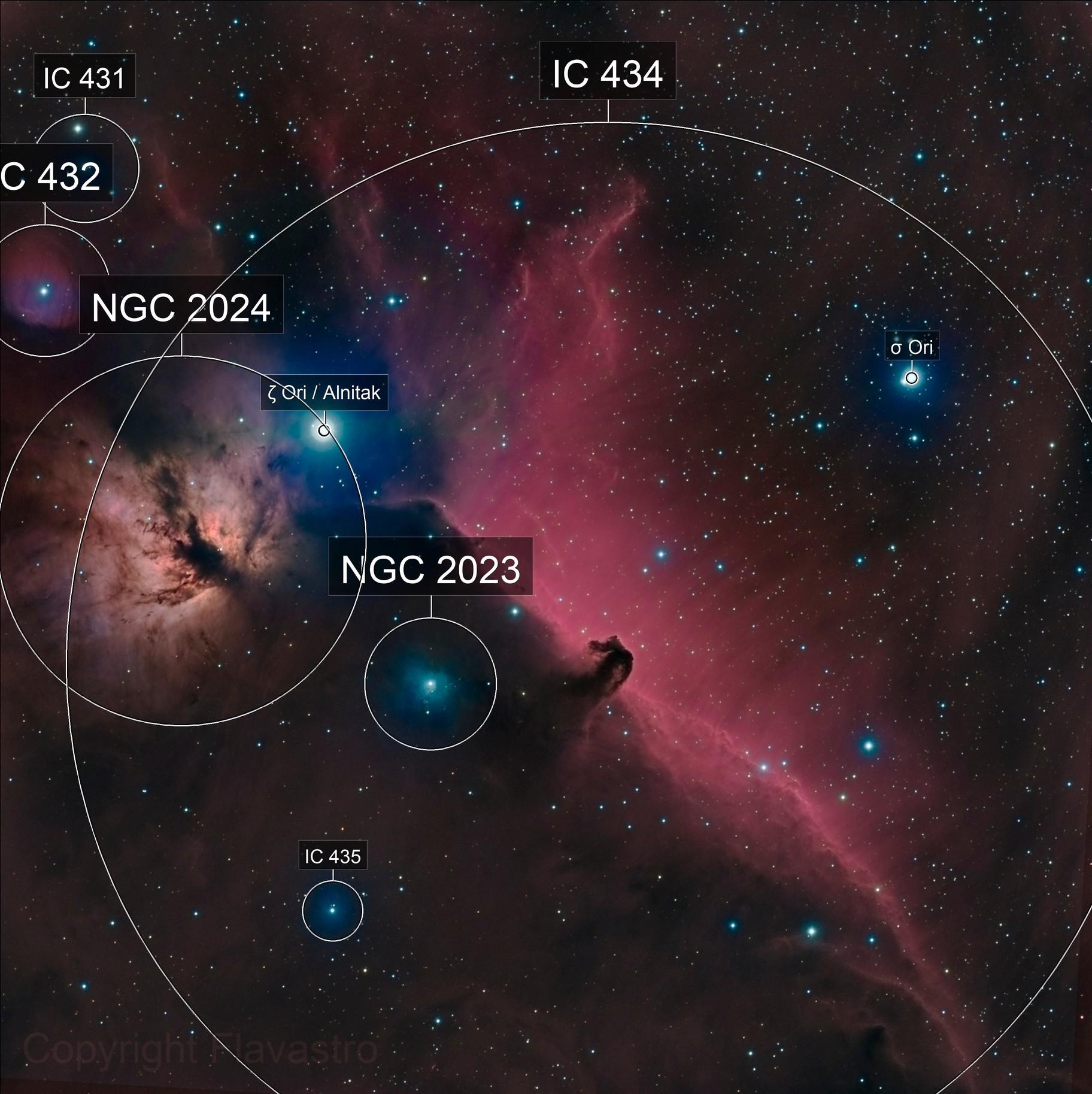 IC434-Nébulesuse de la flamme et tête de cheval