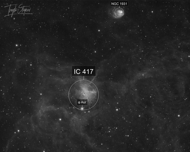 IC417/NGC1931 - The Spider and the Fly