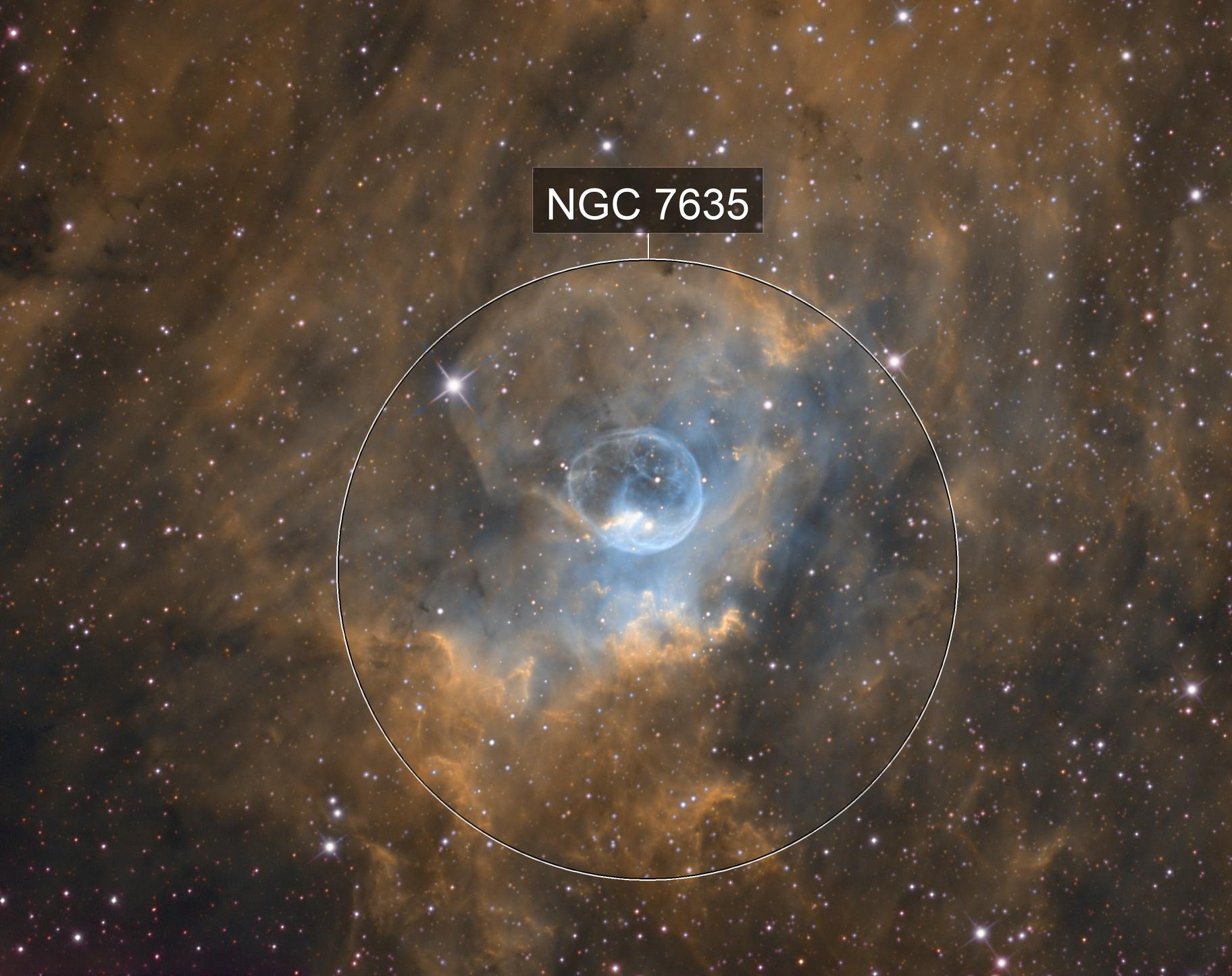 The Shining Bubble - NGC 7635