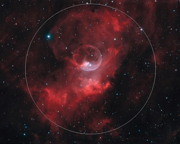 NGC 7635 - Bubble Nebula - HOO narrowband