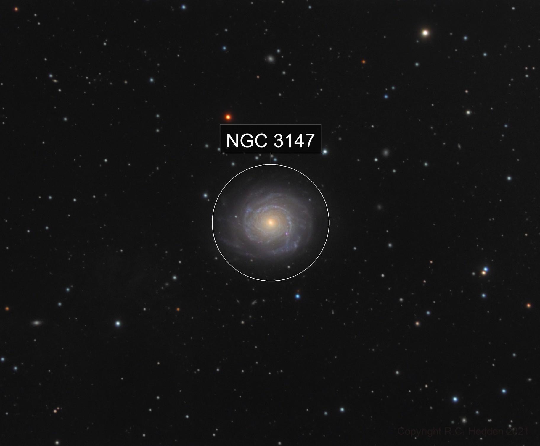 NGC 3147 and variable stars