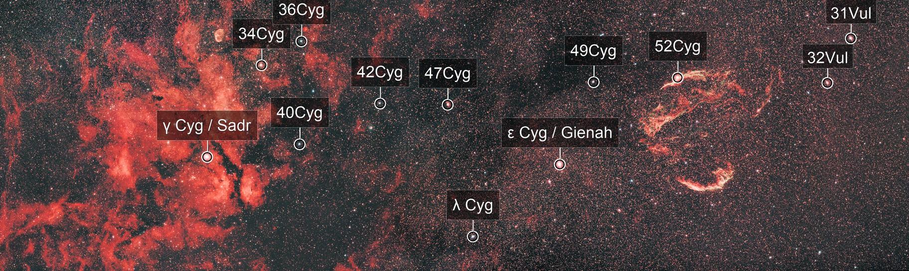 Gamma Cygni to the Veil Nebula