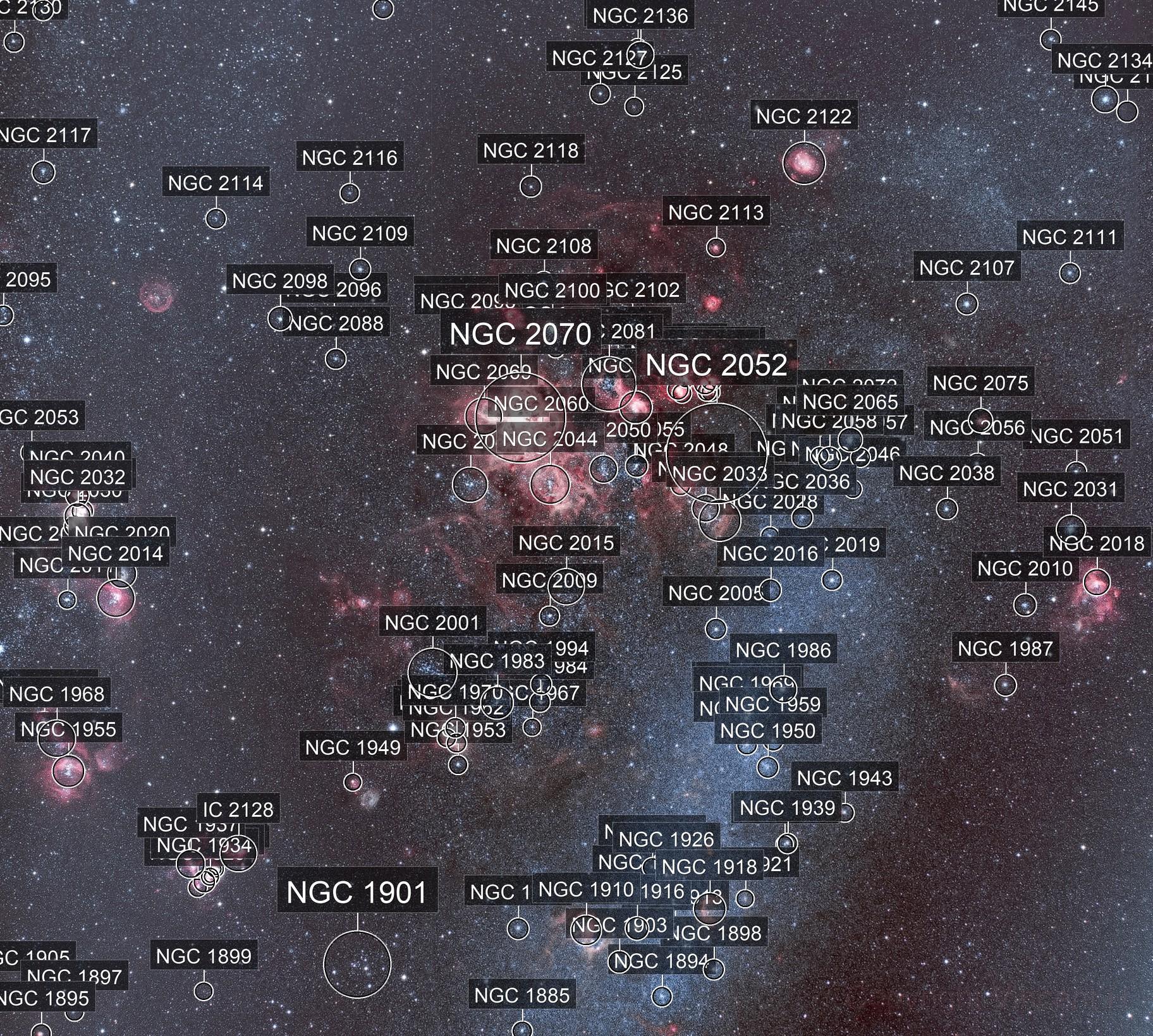 NGC 2060 : Nébuleuse de la Tarentule R(Ha)VB