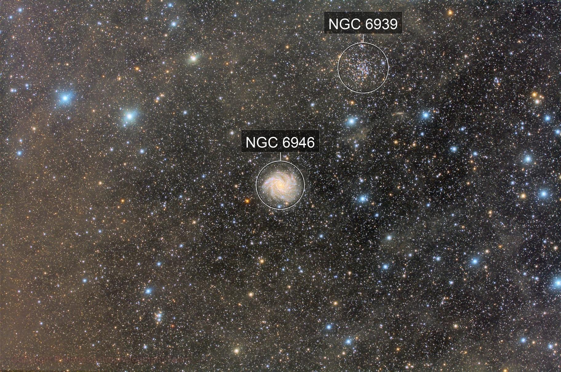 NGC 6946 Fireworks Galaxy Widefield