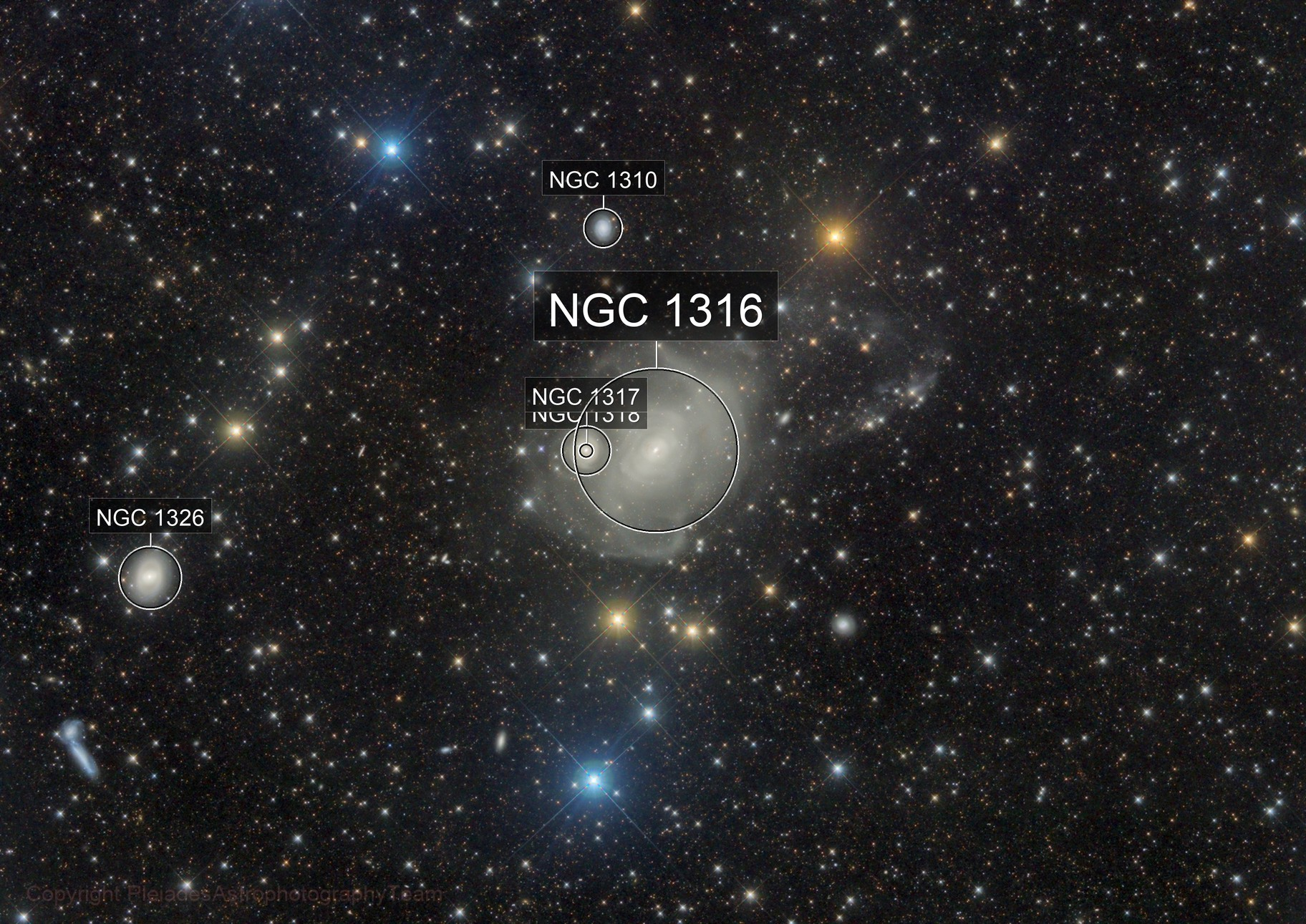 Rip City Fornax A (NGC1316) with a faint loop