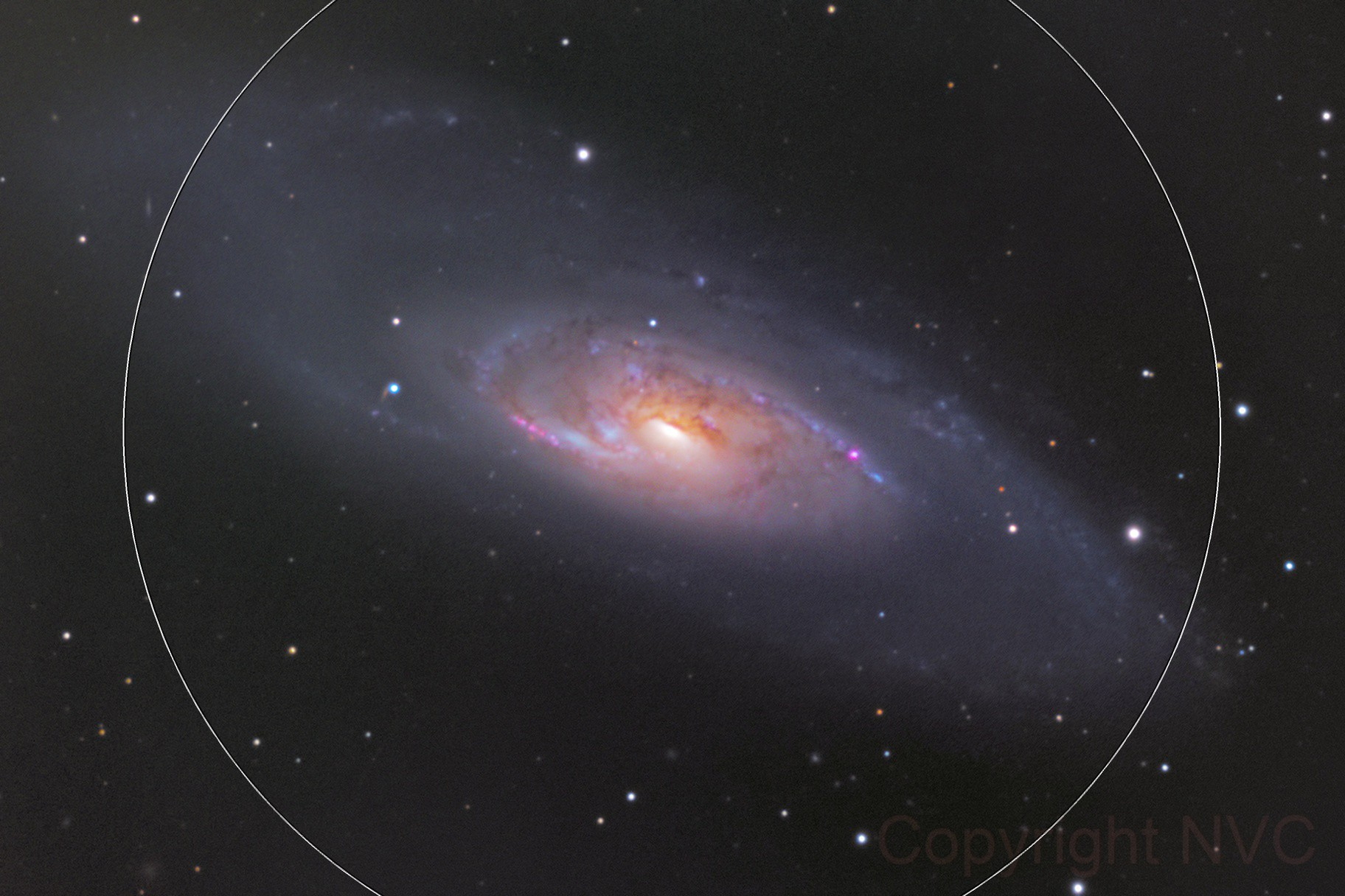 M106 Galaxy, a color image, CPH, Denmark