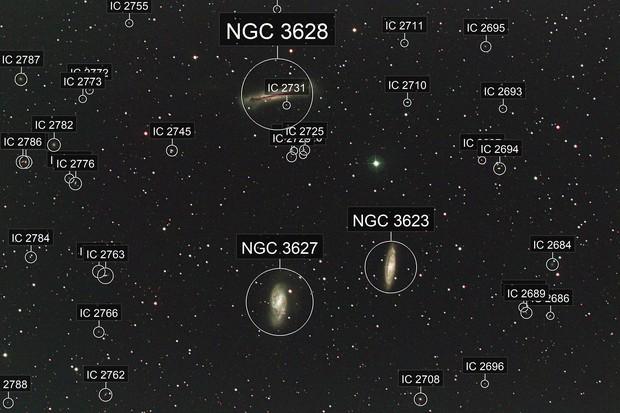 Leo Triplet (M65, M66, NGC 3628)