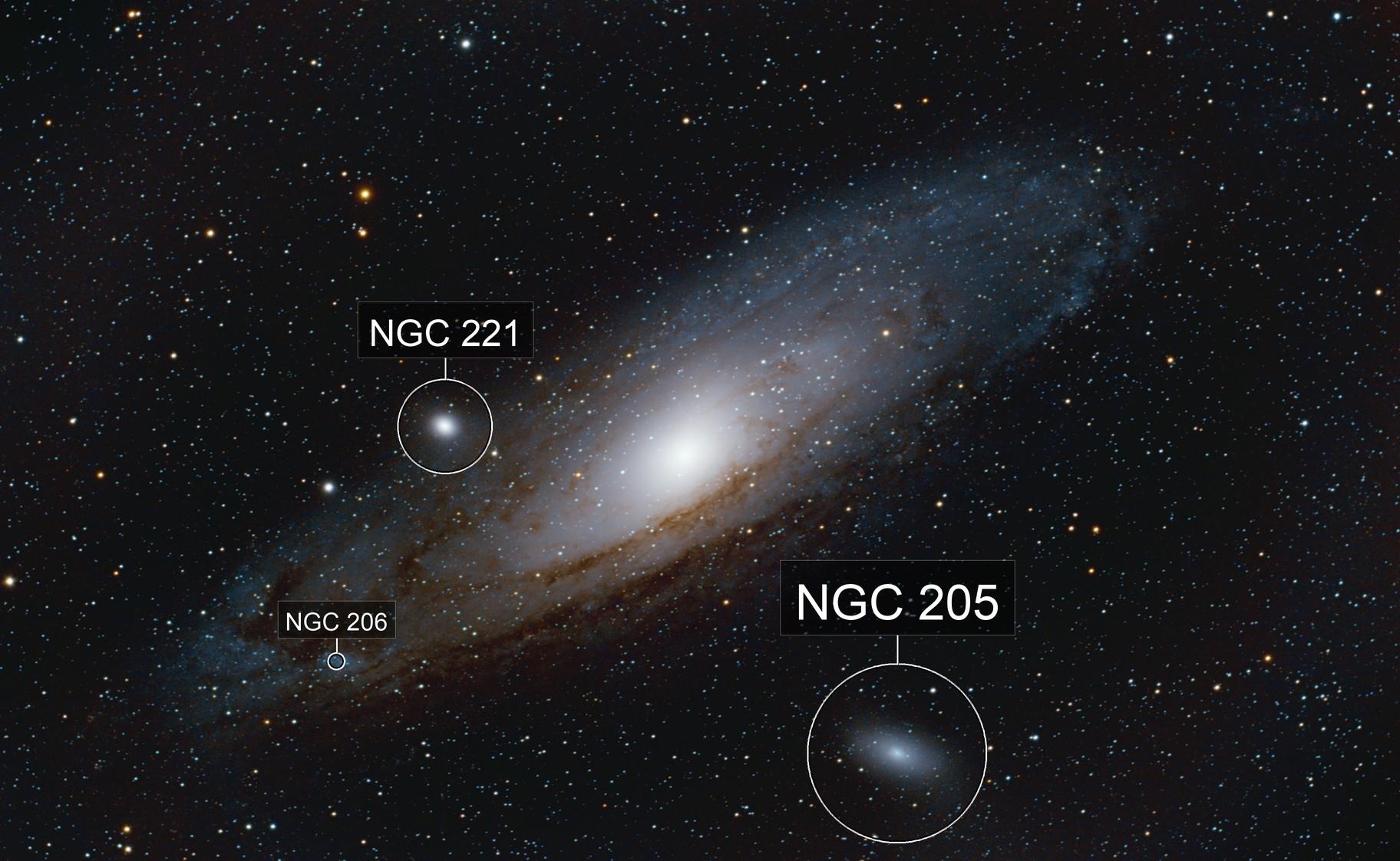 Andromeda Galaxy M 31, NGC 205
