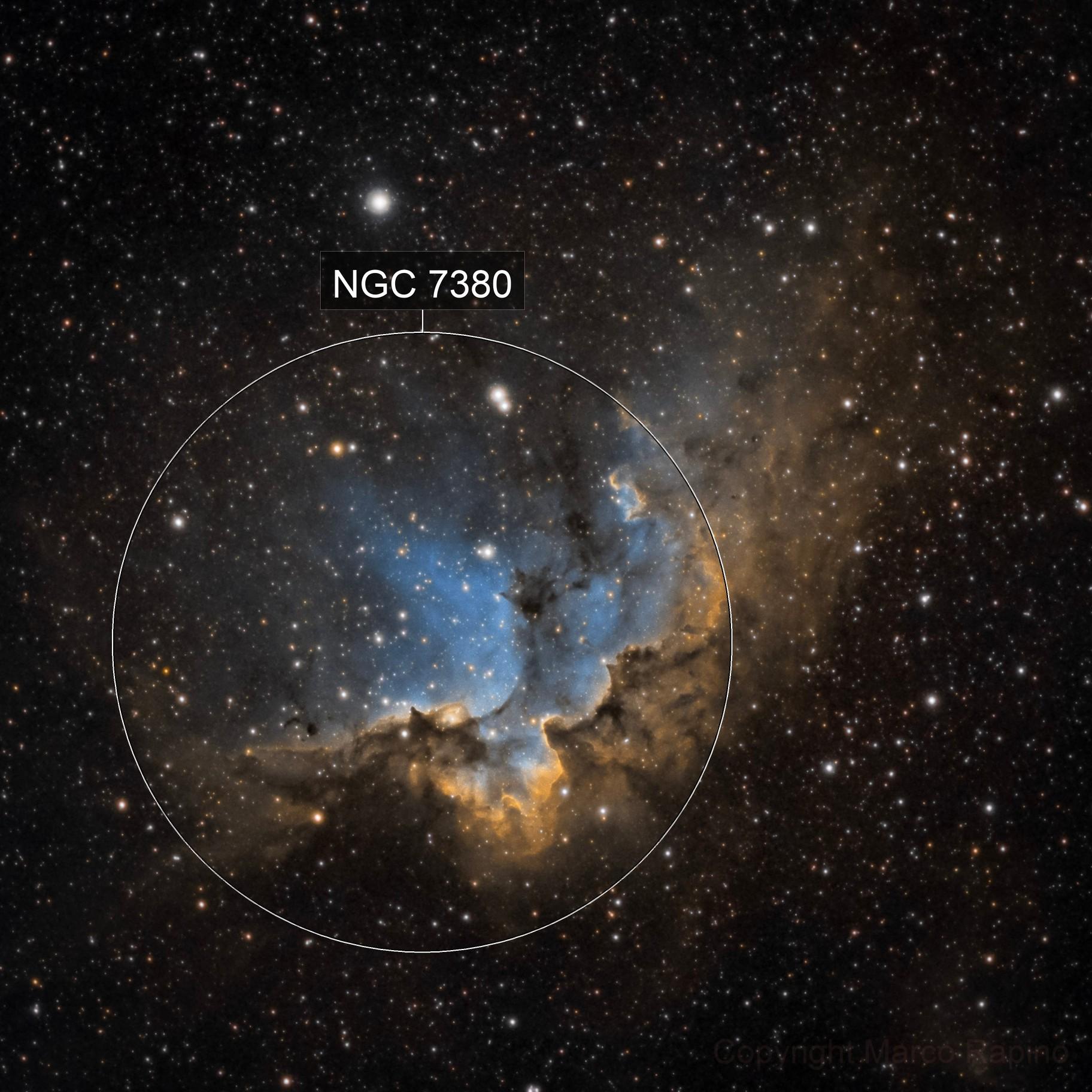 Wizard Nebula - NGC 7380 (SHO)