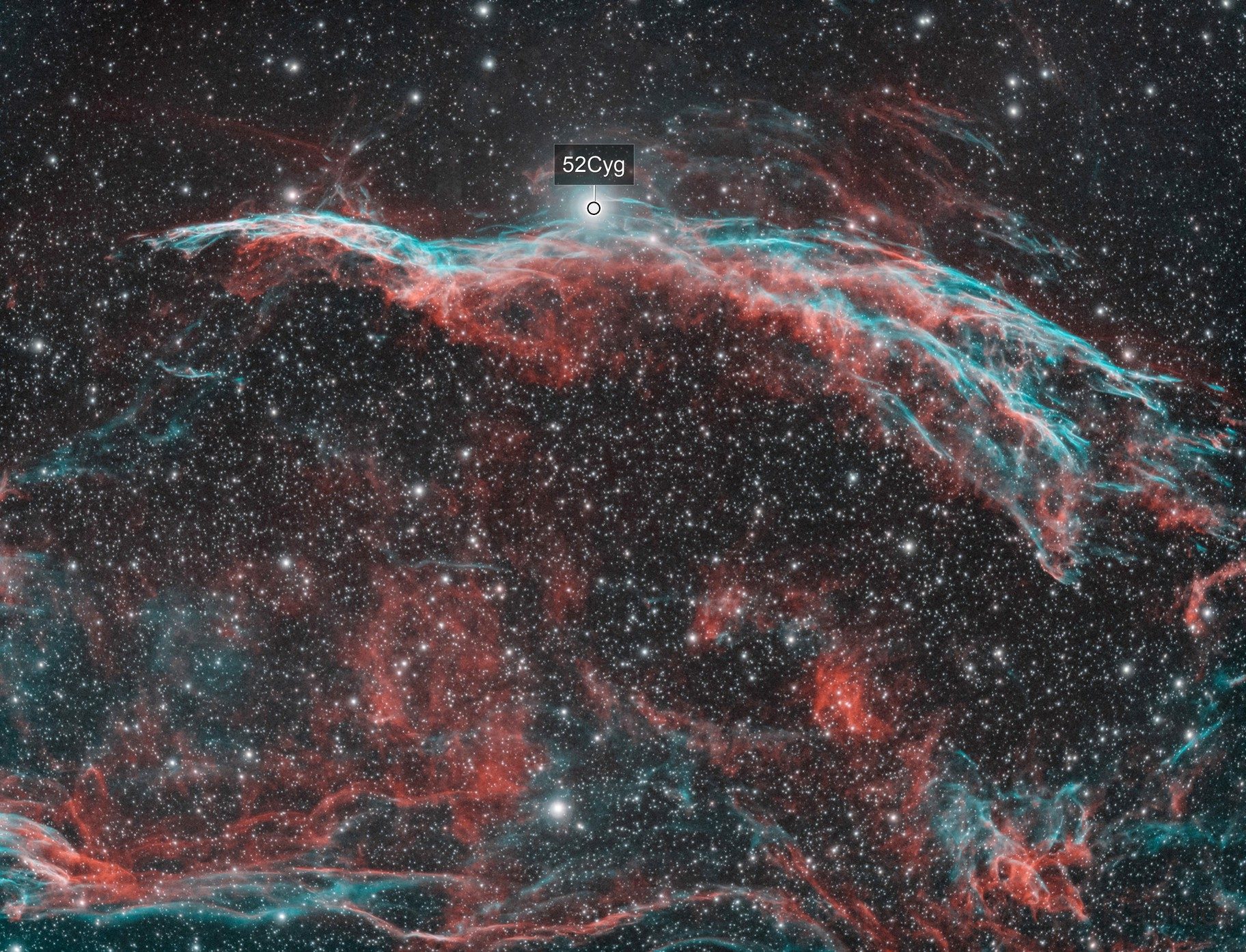 Western Veil Nebula (NGC 6960)