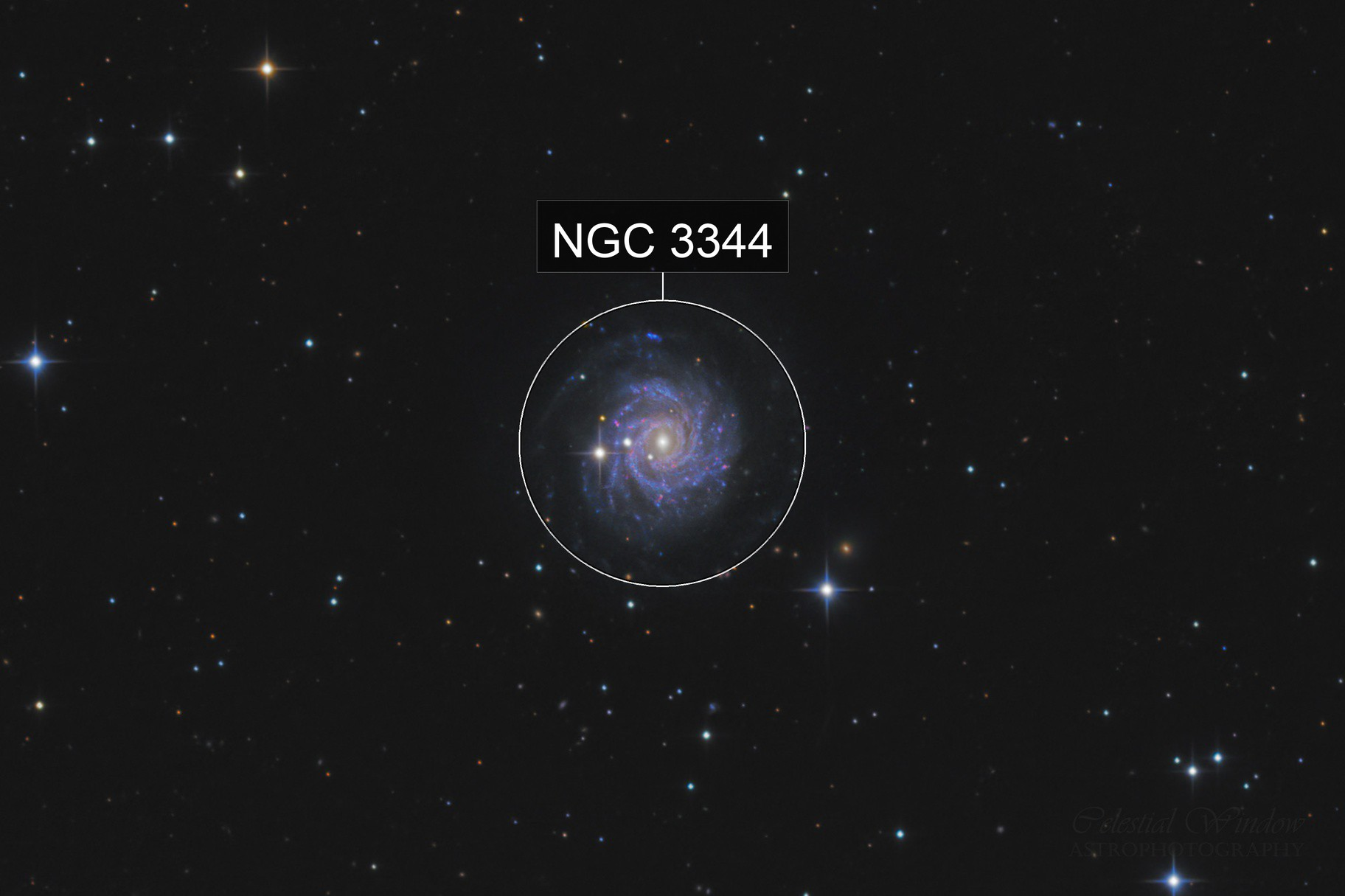 Sliced Onion Galaxy NGC 3344