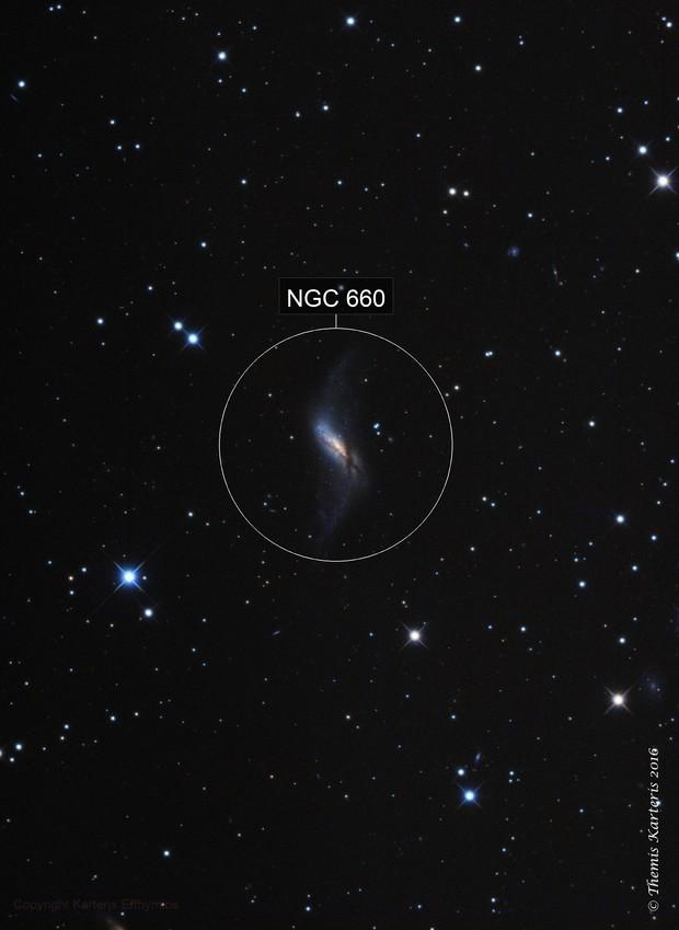 NGC 660 Polar ring Galaxy