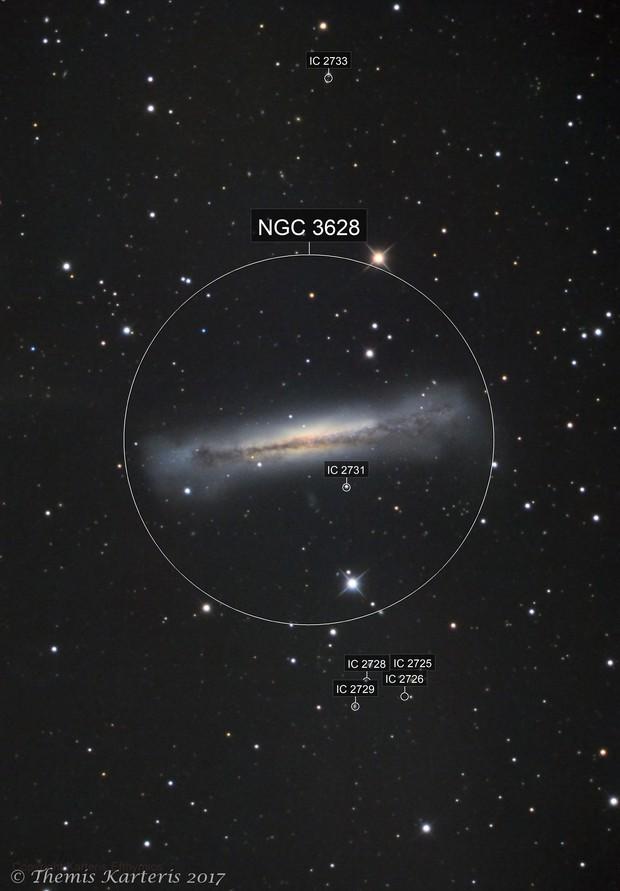 NGC 3628 LRGB