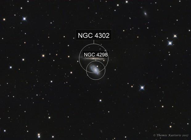 NGC 4298 & 4302 LRGB