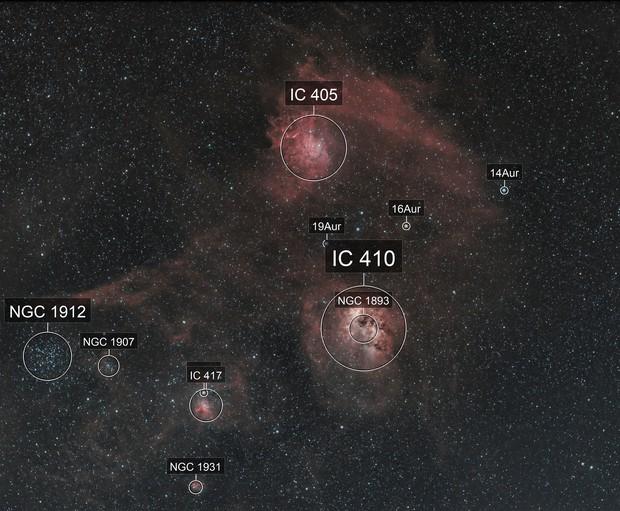 Flaming Star Nebula, IC 405