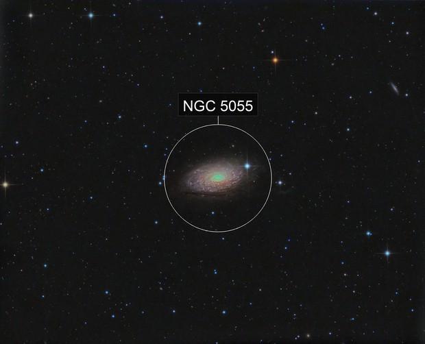 M 63 Sunflower galaxy in Canes Venatici