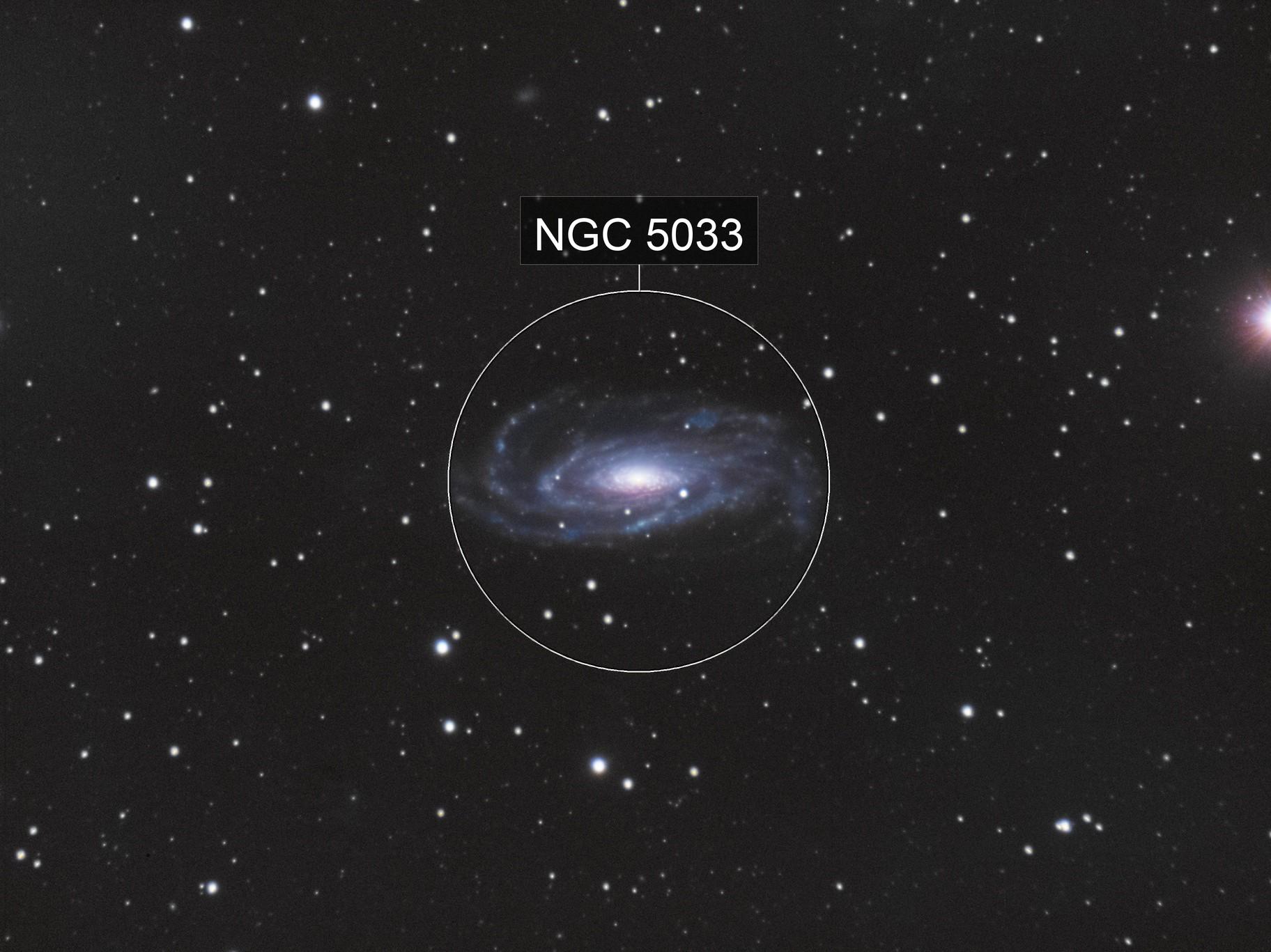 NGC5033 - The Waterbug Galaxy