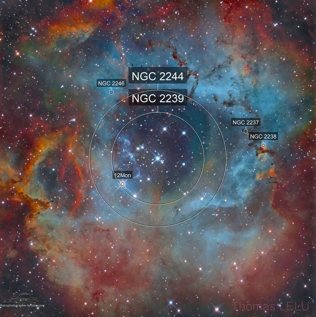 Rosette nebula SHO and RGB stars (Final revision)
