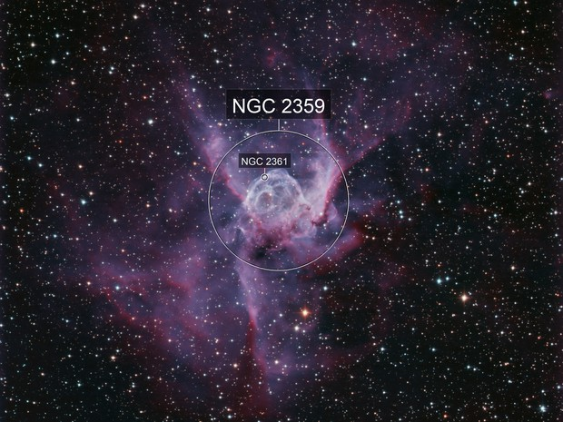 NGC2359 The Thor's Helmet Nebula from Deep Sky Chile in January 2020