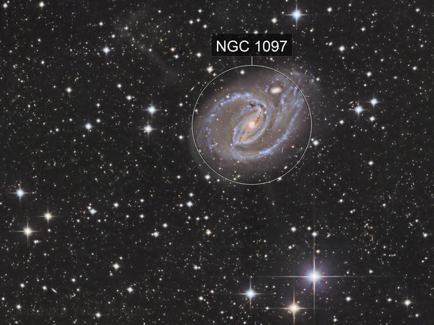 The Barred Spiral Galaxy NGC1097 and its Stars Jets from Deep Sky Chile on November 27 to 30 2019