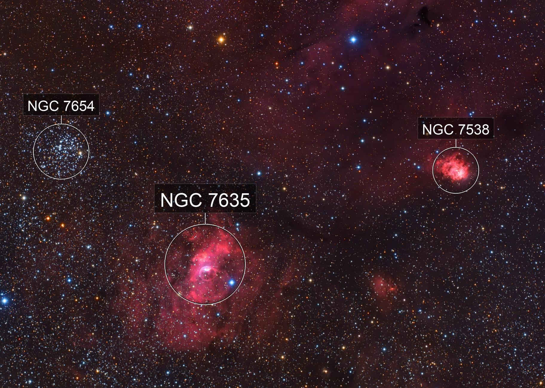 M52 And Bubble Nebula (ngc 7635)