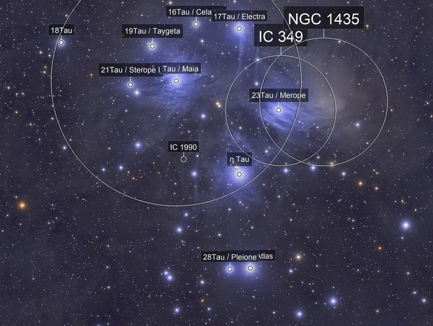 M45 Open star cluster (Pleiades)