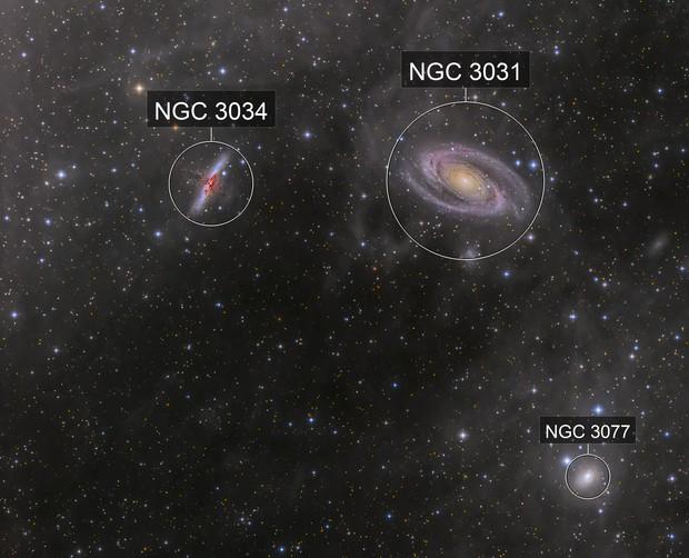 M81-M82 Galaxies & Integrated Flux Nebula (IFN)