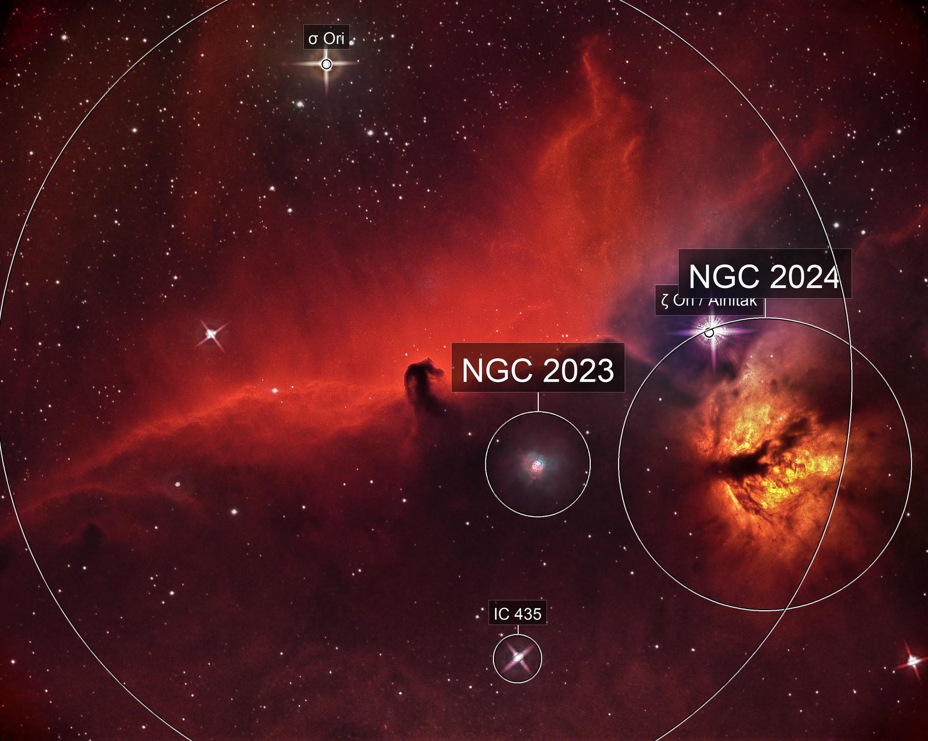 IC 434 Horsehead and Flaming Nebulae