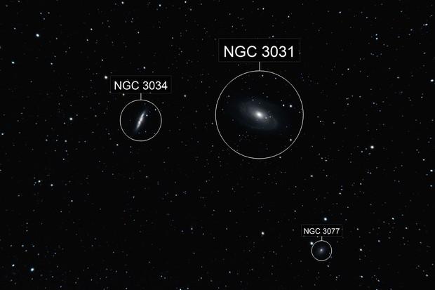 Bode's M81 & Cigar M82 Galaxies