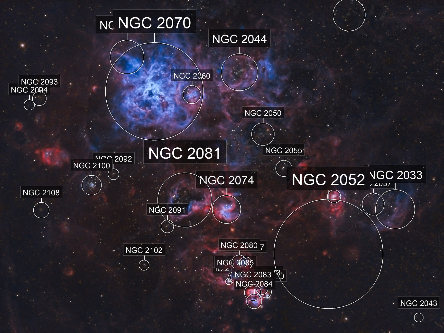 NGC2070 - Tarantula Nebula