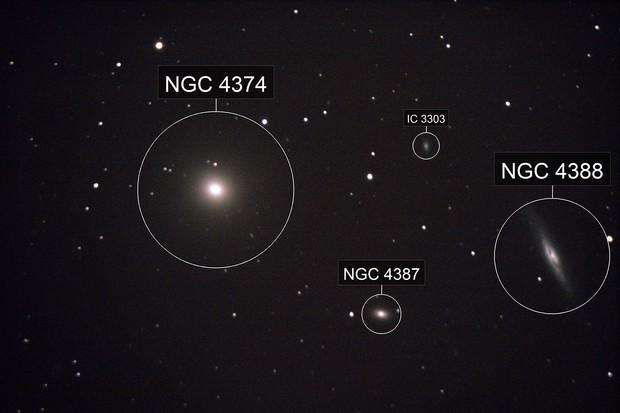M84, NGC4387, NGC4388 and IC 3303
