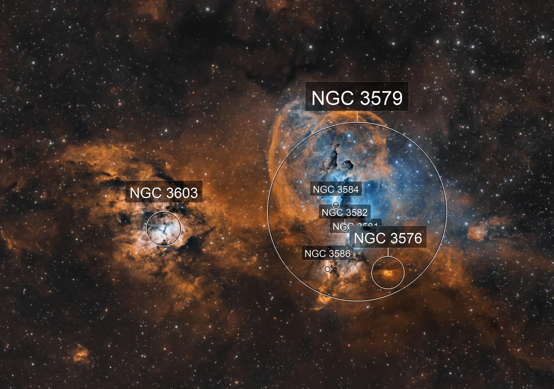 NGC3676  The Statue of Liberty Nebula
