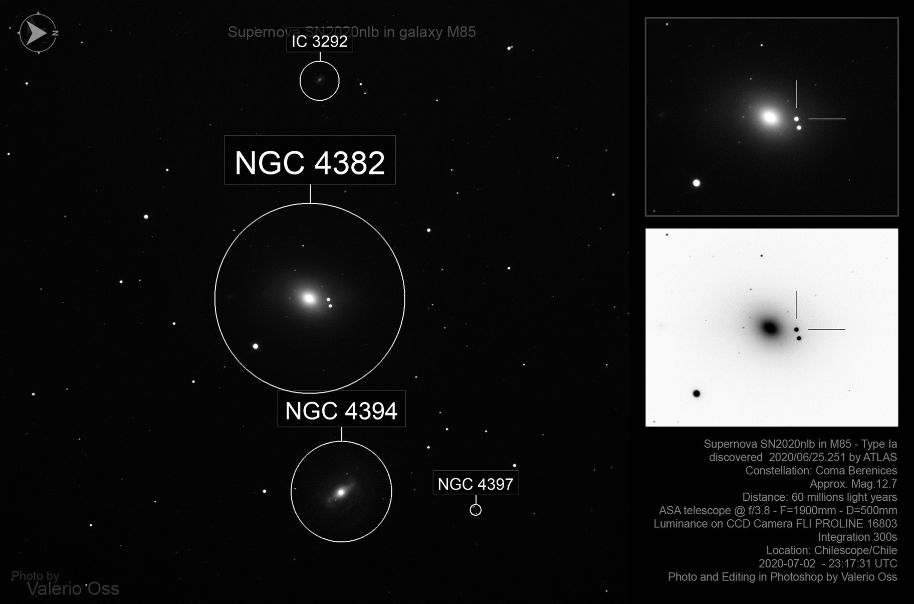Supernova SN2020nlb in galaxy M85