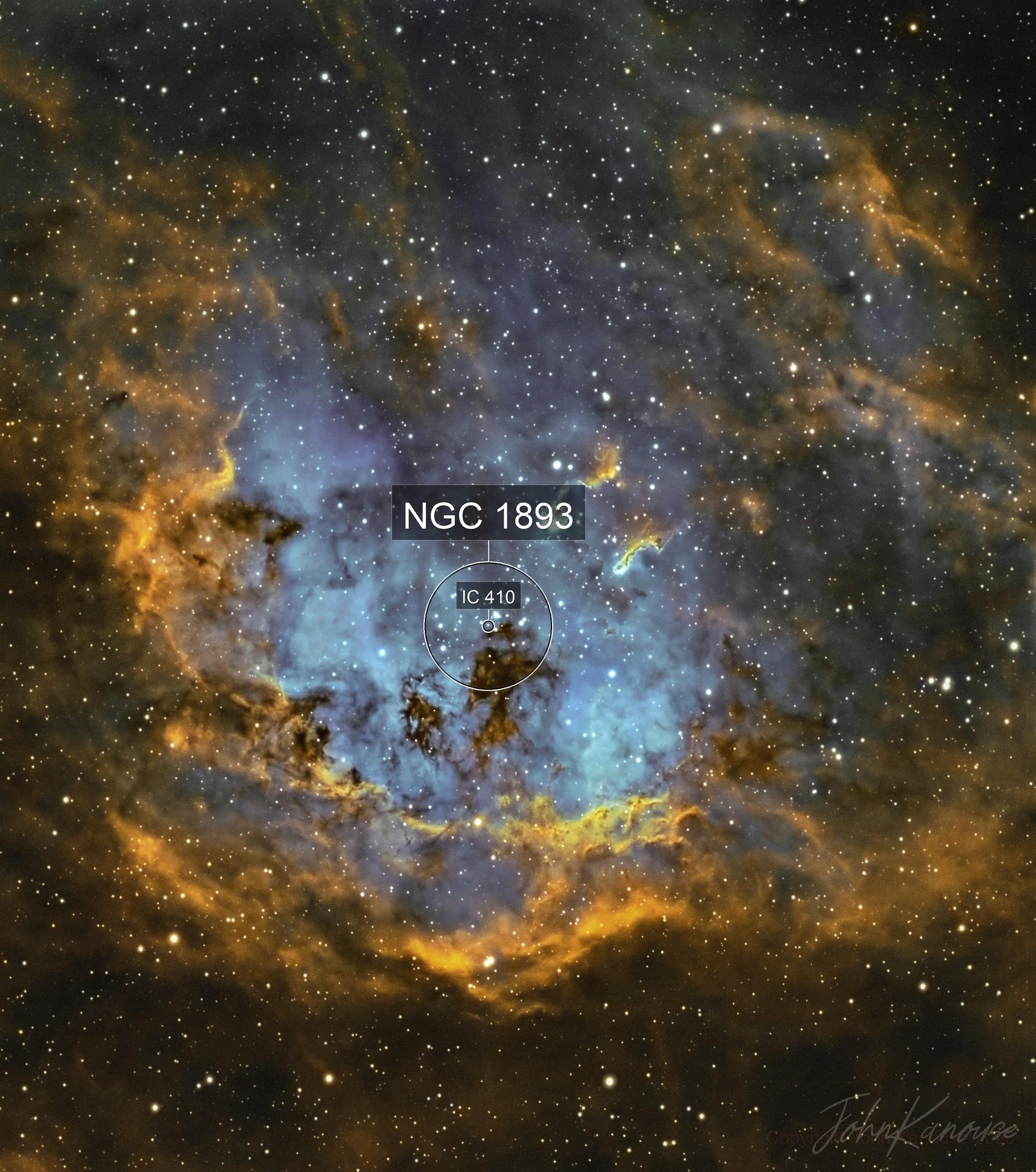 IC410 The Tadpole Nebula SHO