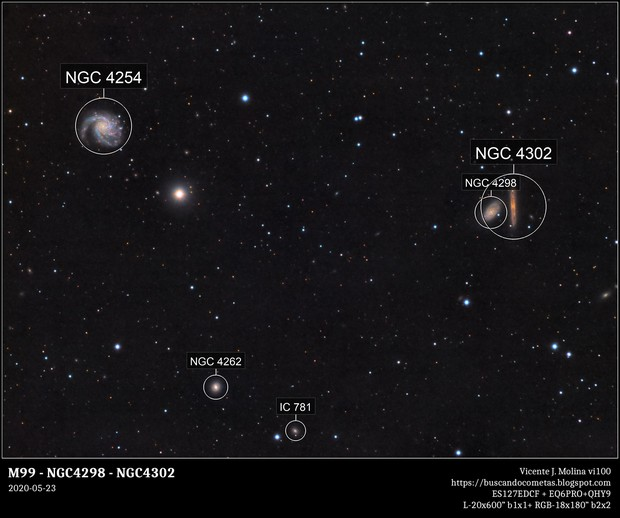 M99 - NGC4298 - NGC4302