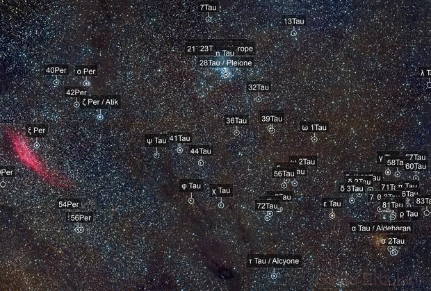 Between Taurus and Perseus